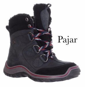 NWT Pajar Senora Lace-Up Leather Boot Black